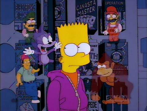 Bart's conscience: Mario, Luigi, Donkey Kong, Sonic, and Lee Carvallo
